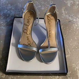 Sam Edelman silver leather Arielle sandal
